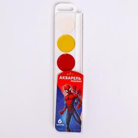 Акварель медовая «Человек-паук», 6 цветов, без кисти Ош