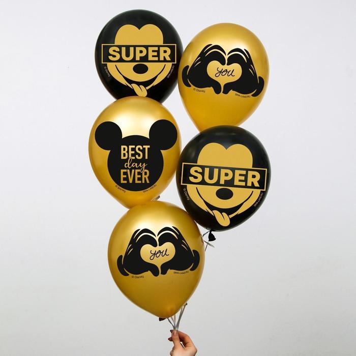 "Воздушные шары ""Mickey"", Микки Маус (набор 50 шт) 12 дюйм"
