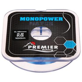 Леска Premier fishing MONOPOWER Match, blue, 0,16 мм/100 м