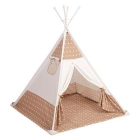 Палатка-вигвам детская Polini kids «Звёзды», цвет макиато Ош