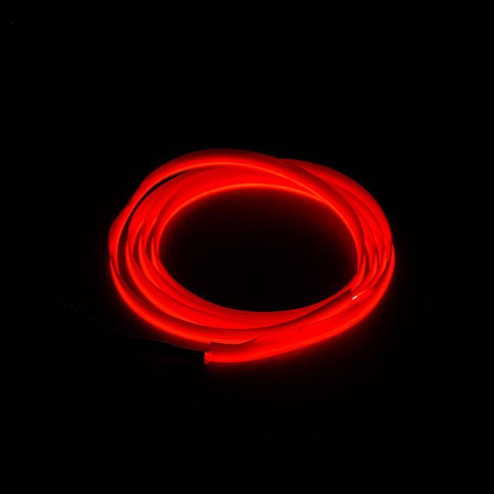 Неоновая нить для подсветки салона, красная, 1 м