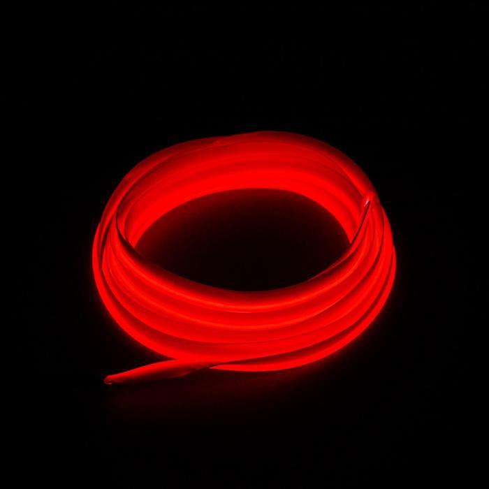Неоновая нить для подсветки салона, красная, 2 м