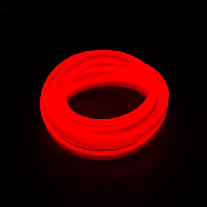Неоновая нить для подсветки салона, красная, 3 м