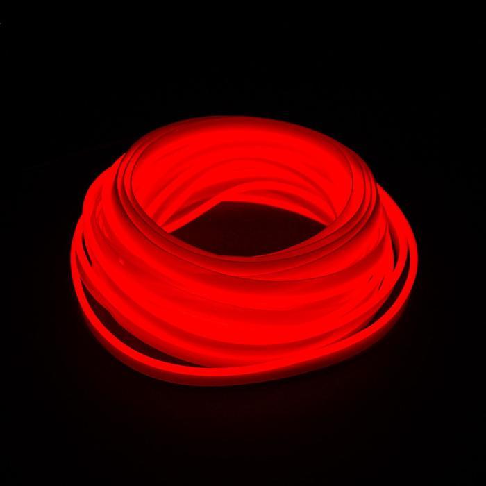 Неоновая нить для подсветки салона, красная, 5 м