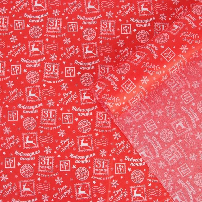 Бумага упаковочная тишью В ожидание чуда , 50 х 70 см