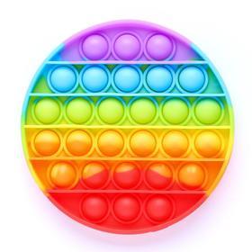 Антистресс игрушка «Вечная пупырка», круглая, радуга Ош