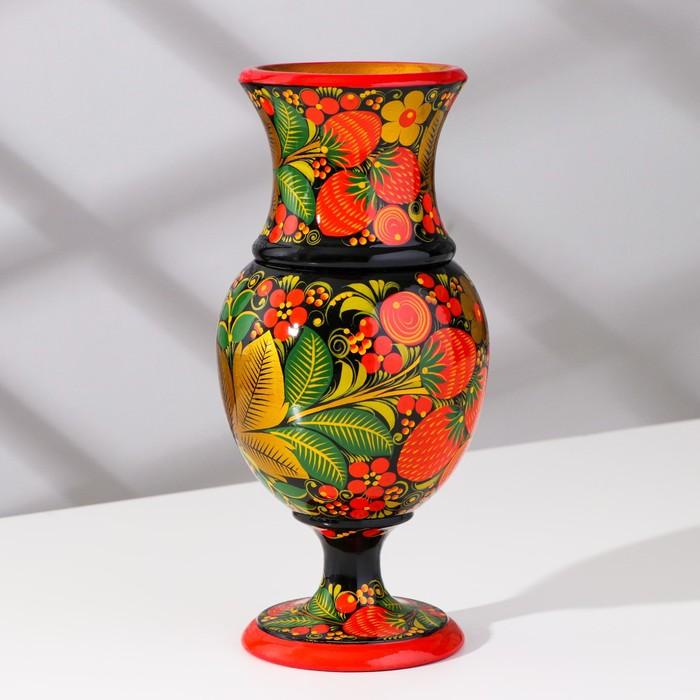 Ваза под цветы, 11х19 см, с художественной росписью