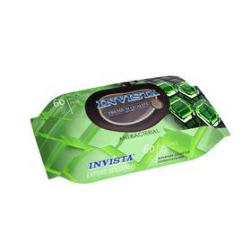 Влажные салфетки INVISTA  Lux  антибактериальная, с клапаном, 60 шт.