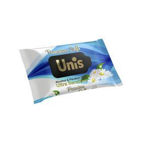 Влажные салфетки UNIS универсальные для всей семьи с экстрактом ромашки, 25 шт.