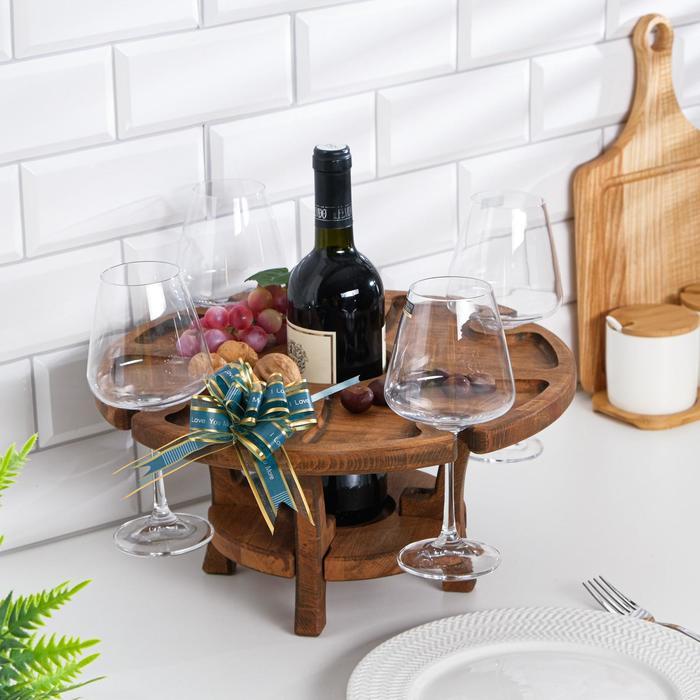 """Винный столик деревянный """"Middle"""" орех"""