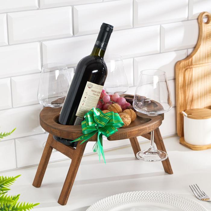 """Винный столик деревянный """"Joy"""" орех"""
