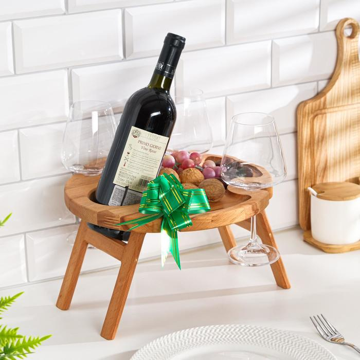 """Винный столик деревянный """"Joy"""" сандал"""