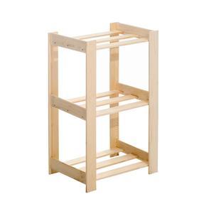 Стеллаж деревянный 'Браво-3', 80х46х33 см Ош