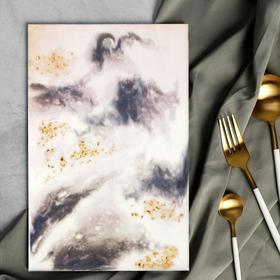Разделочная доска ручной работы «Серебро» 28 х 18 см