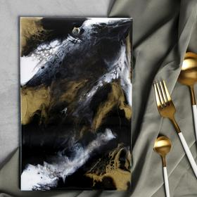 Разделочная доска ручной работы «Мрамор» 28 х 18 см