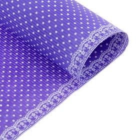 Бумага гофрированная 'Белый горошек', цвет фиолетовый Ош