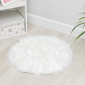 Коврик Доляна «Вини», 60×60 см, цвет белый