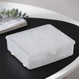 Органайзер для хранения мелочей с разделителями, 14x×3,5×4,2см, цвет белый перламутр Ош