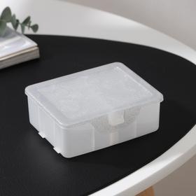 Органайзер для хранения мелочей с разделителями, 11×9,5×4,2 см, цвет белый перламутр Ош