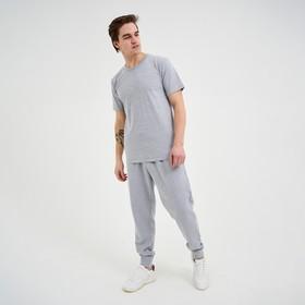 Брюки мужские, цвет серый меланж, размер 50 Ош