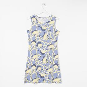 Ночная сорочка женская , цвет серо-голубой, размер 44