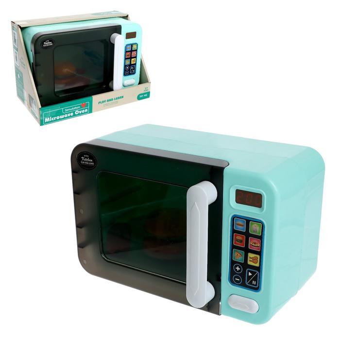 Бытовая техника «Микроволновая печь» свет, звук, тарелка крутится