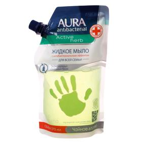 Жидкое мыло антибактериальное AURA Antibacterial Active Herb Чайное дерево дой-пак 375 мл