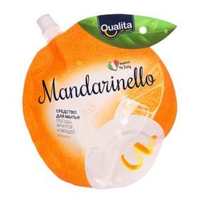 Средство для мытья посуды QUALITA MANDARINELLO дой-пак 450 мл