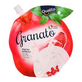 Средство для мытья посуды QUALITA GRANATO дой-пак 450 мл