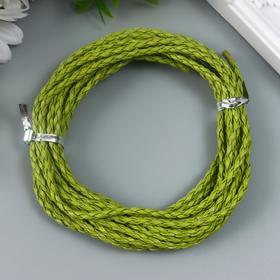 Плетёный шнур 3 мм, 5 м, зелёный