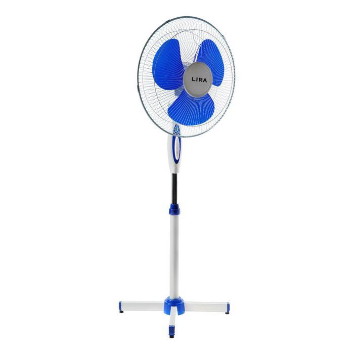 Вентилятор LIRA LR 1101, напольный, 55 Вт, фасовка по 2 шт, голубой