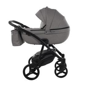 Коляска детская 2в1 TAKO LARET NEW SOFT TLS-01, цвет ткань серая/короб серый/рама черная