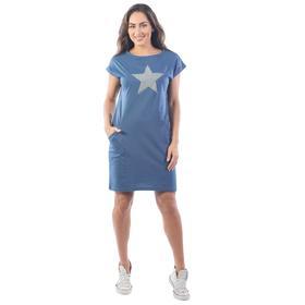 Платье рельефное, размер 50, цвет индиго Ош