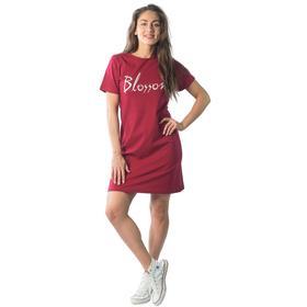 Туника, размер 44, цвет бордовый