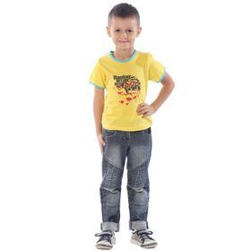 Футболка детская, рост 104 см, цвет жёлтый Ош