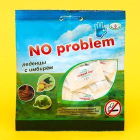Леденцы No Problem со вкусом мелиссы, имбиря и карамели, от курения, 50 г