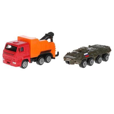 Машина металлическая «KAMAZ эвакуатор», 7,5 см, броневик 7,5 см - Фото 1