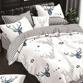 Постельное бельё Butterfly 1,5сп 145х215, 160х220, 50х70см-2шт, сатин