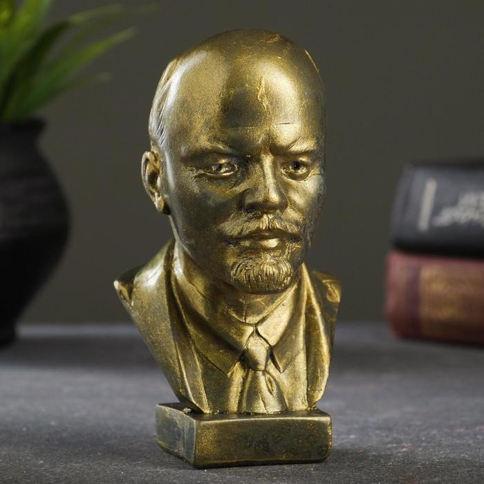 Бюст В.И. Ленин, латунь, 15х10х8 см
