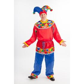 """Карнавальный костюм """"Петрушка"""", рубаха, брюки, колпак, размер 176-56"""