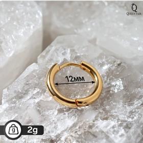 Пирсинг в ухо 'Кольцо' классик, d=1,2см, цвет золото Ош