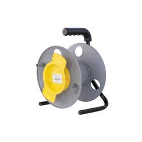 Катушка без провода GLANZEN, с выносным барабаном Ф270мм EL-01-270, серый/жёлтый Ош