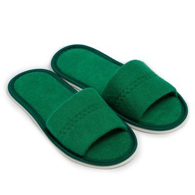 Тапочки женские, цвет зелёный, размер 36-38 - Фото 1