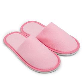 Тапочки женские махровые, закрытый нос, цвет розовый, размер 36-38