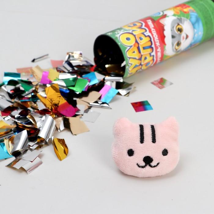 Хлопушка с игрушкой Чудо-сюрприз, снеговик, новогодняя серия