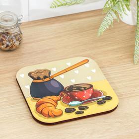 Подставка под горячее «Лёгкий завтрак», 18×18 см