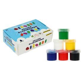 Краски пальчиковые, набор 6 цветов х 40 мл, «Спектр», 240 мл, с ромашкой, ARTEVIVA (от 3-х лет)