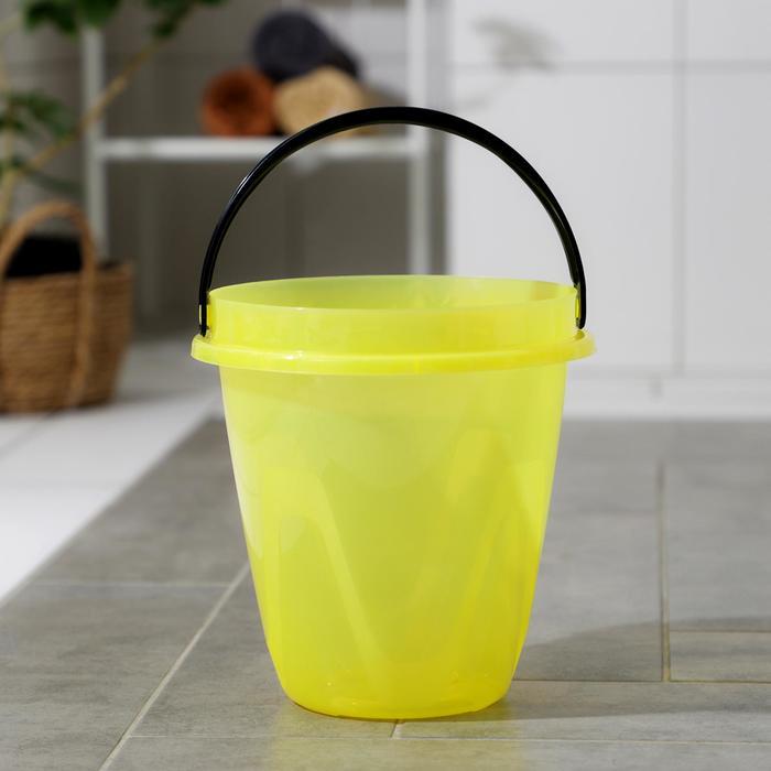 Ведро 5 л Лайт, цвет прозрачный желтый