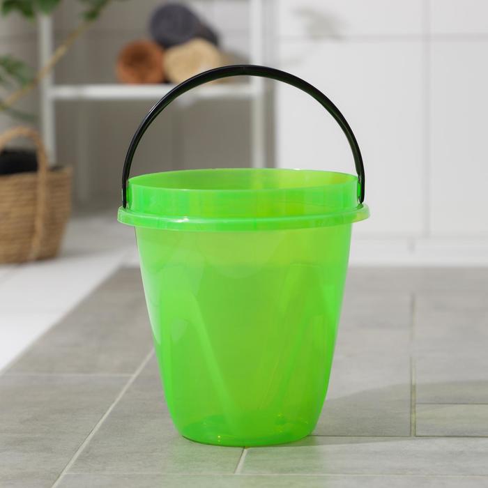 Ведро 5 л Лайт, цвет прозрачный зеленый
