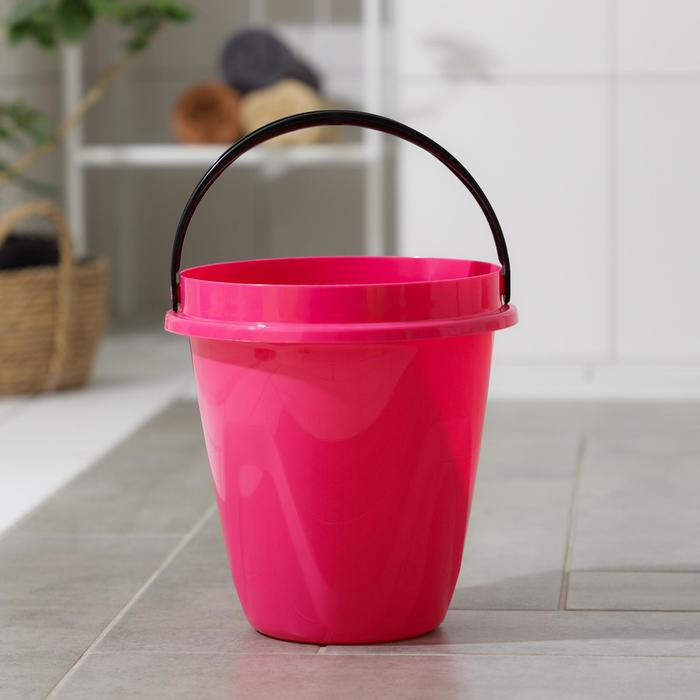 Ведро 8 л Лайт, цвет розовый